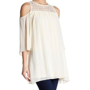 Want and Need Cold Shoulder Tunic Dress Size XS